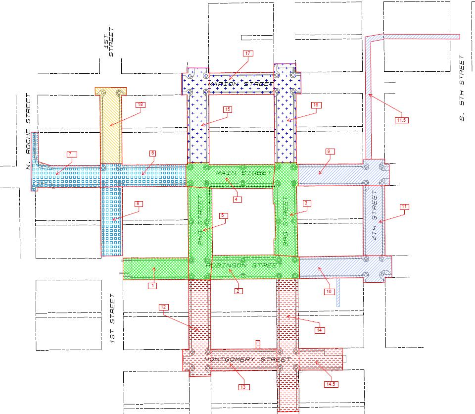 Downtown Streetscape design